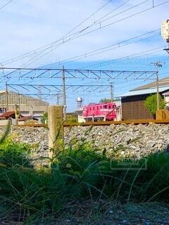 ピンクの鉄道の写真・画像素材[3843779]