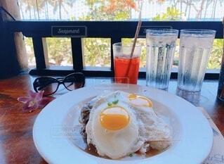 ハワイの景色のロコモコの写真・画像素材[3844230]
