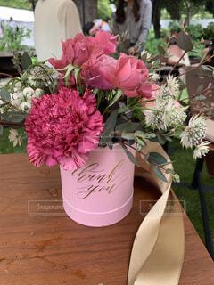 ピンクのボックスフラワーの写真・画像素材[3929024]