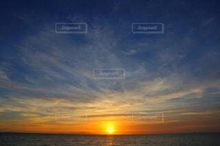 淡路島の夕日の写真・画像素材[3846285]