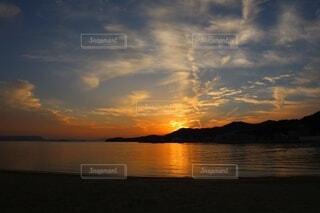 小豆島の夕焼けの写真・画像素材[3846284]