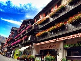 スイス、ツェルマットの街並みの写真・画像素材[3846295]