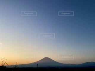 富士山と夕焼けの写真・画像素材[3897874]