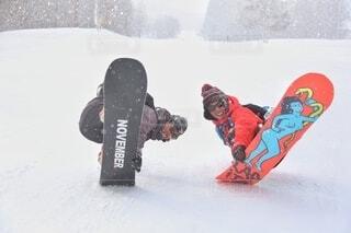 冬,雪,屋外,飛ぶ,スキー,運動,スノーボード,ウィンタースポーツ,雪国,北国,白馬村,スポーツ用品,ボードスポーツ