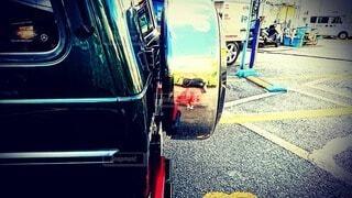 車に映る私の写真・画像素材[3871168]