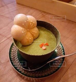 抹茶チーズケーキの写真・画像素材[3855524]