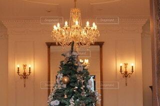 部屋の中のクリスマスツリーの写真・画像素材[3979965]