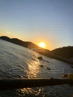 自然,風景,海,空,冬,太陽,朝日,山,景色,旅,正月,お正月,日の出,新年,初日の出