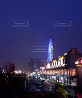 お台場の夜景の写真・画像素材[4070824]