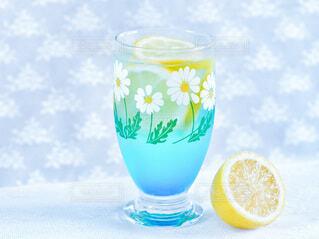 空色レモンソーダの写真・画像素材[3856212]