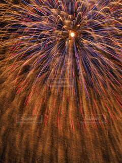 空の花火の写真・画像素材[4667819]