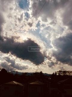空の雲群の写真・画像素材[3864730]