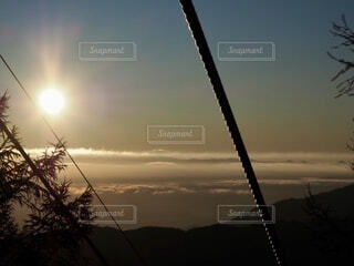 空,太陽,朝日,山,旅行,正月,雲海,お正月,日の出,明るい,長野,リフト,新年,初日の出,景観,阿智村,星空人気