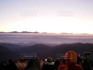 朝日,旅行,正月,雲海,人々,お正月,日の出,長野,新年,初日の出,阿智村,星空人気