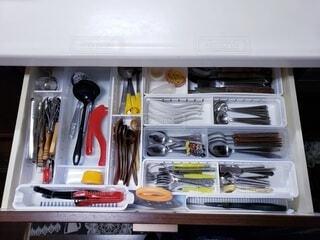 キッチンの引き出しの写真・画像素材[4153469]