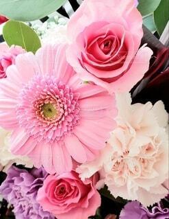 ピンクの花束のクローズアップの写真・画像素材[4265745]