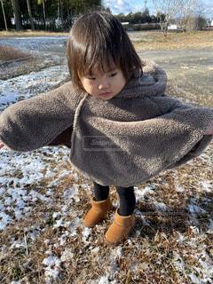 雪ポーズの写真・画像素材[4177705]
