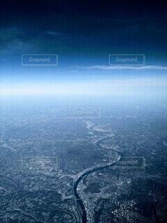 ピッツバーグの川の合流地点を上空からの写真・画像素材[3899204]