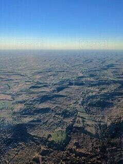 テネシー州ナッシュビル近くは平地、緑の大地と青空の写真・画像素材[3905501]