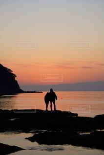 夕日,カップル,朝日,夕焼け,夕暮れ,正月,お正月,夕陽,江ノ島,日の出,夕景,新年,初日の出,江の島,江ノ島 江の島