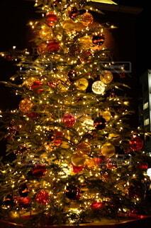 心ほっこり温まるクリスマスツリーの灯りの写真・画像素材[4007196]