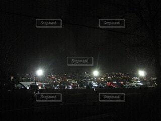 夜の都市の写真・画像素材[4077991]