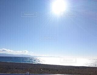自然,空,太陽,朝日,ビーチ,砂浜,水面,正月,日の出,新年,初日の出,日中