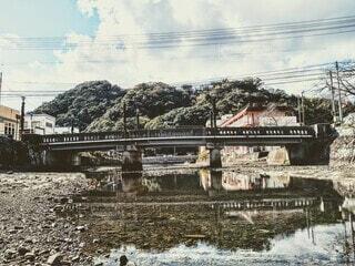 地方都市に架かる橋の写真・画像素材[3944396]