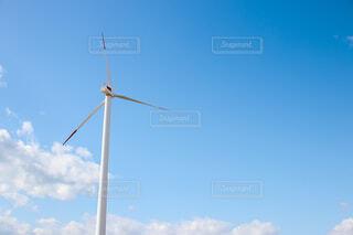 青空と風車の写真・画像素材[4608369]
