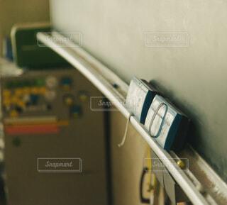 黒板と黒板消しのクローズアップの写真・画像素材[3918510]