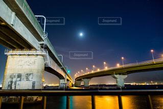 夜のセントレア大橋の写真・画像素材[3921069]