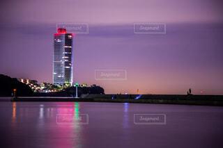 夜の海の写真・画像素材[4079008]