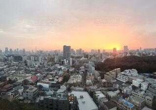 空,建物,屋外,東京,朝日,都市,タワー,都会,高層ビル,正月,お正月,日の出,新年,初日の出,日中