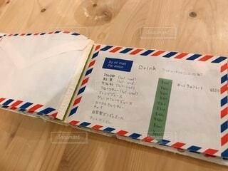 カフェのかわいい手書きメニュー表の写真・画像素材[4031537]