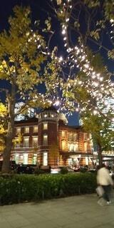 東京駅とイルミネーションの写真・画像素材[3907260]
