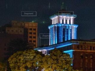 キングの塔ライトアップの写真・画像素材[4841077]