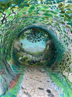 絵画 みどりの洞窟の写真・画像素材[3905256]
