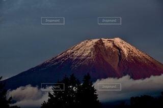 赤富士の写真・画像素材[3909619]