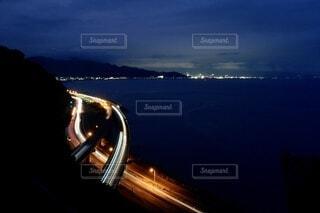 サッタ峠の夜景の写真・画像素材[3909617]