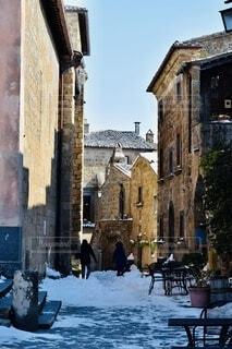 雪に覆われた建物の写真・画像素材[3918979]