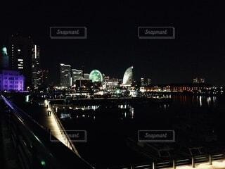 夜のみなとみらいの写真・画像素材[3922536]