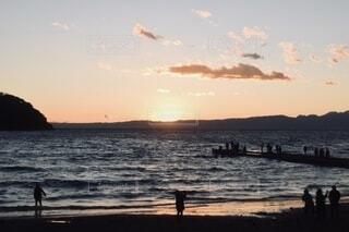 最後の夕日の写真・画像素材[4037805]