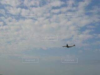 大空を羽ばたく飛行機の写真・画像素材[3910337]