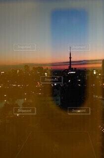 空,朝日,スカイツリー,スマホ,朝焼け,正月,スマートフォン,レンズ,お正月,日の出,新年,初日の出