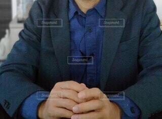 ビジネスカジュアルジャケットで、テレワークの写真・画像素材[4217243]