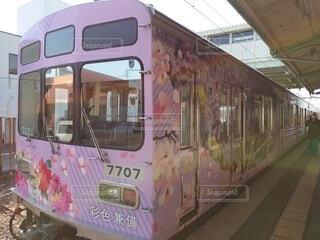 埼玉を走る、彩色兼備のラッピング車両の写真・画像素材[4238992]
