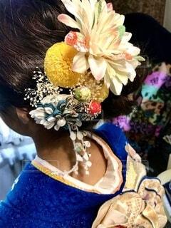 花,アクセサリー,髪飾り,イベント,和服,お祝い,晴れ着,成人式,和装,行事,ちりめん,つまみ細工,成人の日
