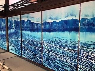 青い水の行の写真・画像素材[1251572]