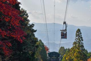比叡山のロープウェイの写真・画像素材[3905388]