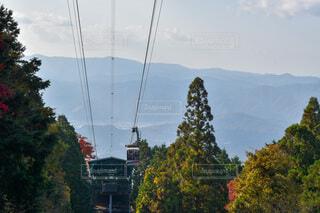 比叡山のロープウェイと駅の写真・画像素材[3905397]